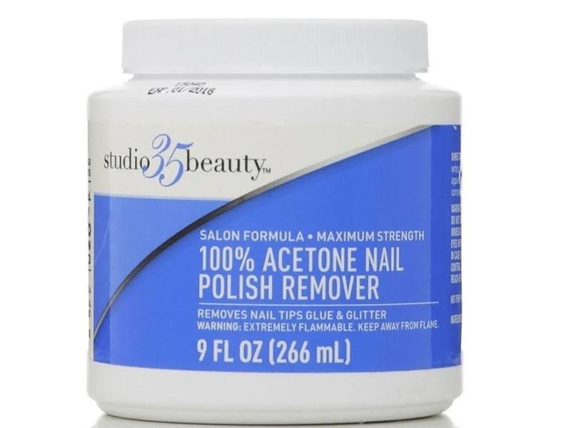 Studio 35 Beauty 100% Acetone Nail Polish Remover, 9 fl oz