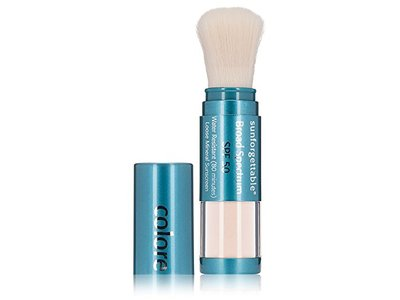 Colorescience Sunforgettable Brush-on Sunscreen, SPF 50, Fair, 0.21 oz - Image 1