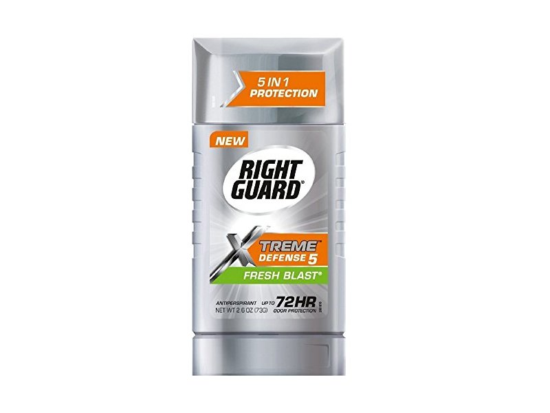 Right Guard Xtreme Defense 5 Anti-Perspirant & Deodorant, Fresh Blast 2.60 oz