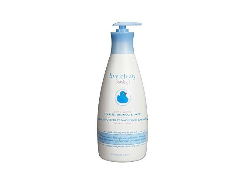 Live Clean Baby Tearless Shampoo & Wash, 25 fl oz