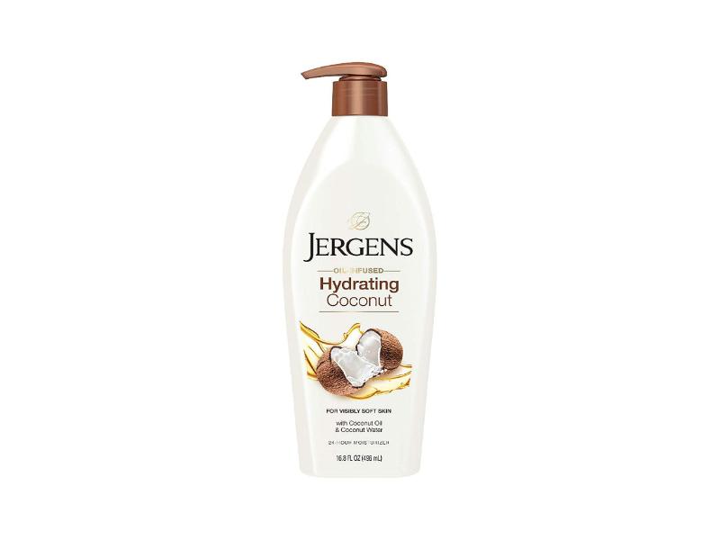 Jergens Hydrating Coconut 24-Hour Moisturizer, Oil-Infused, Visibly Soft Skin, 16.8 fl oz/496 mL