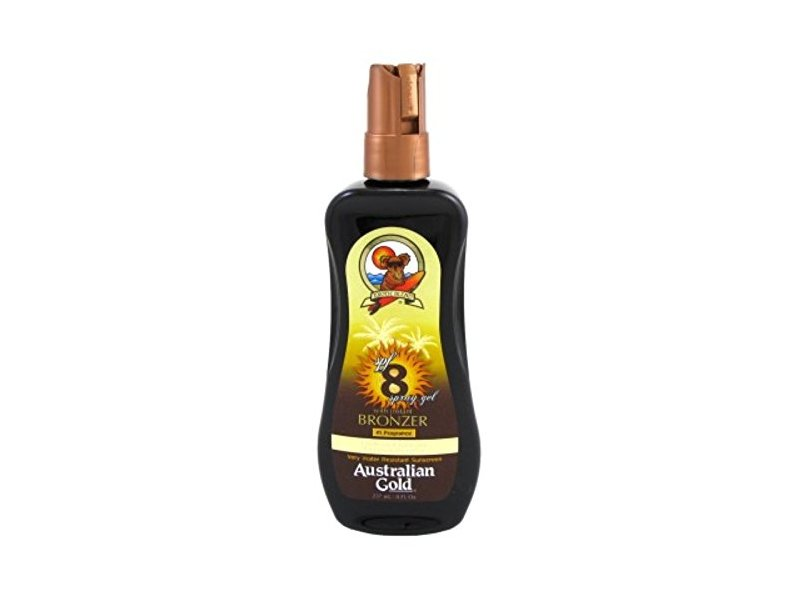 Australian Gold Spray Gel W/Instant Bronzer, SPF 8, 8oz