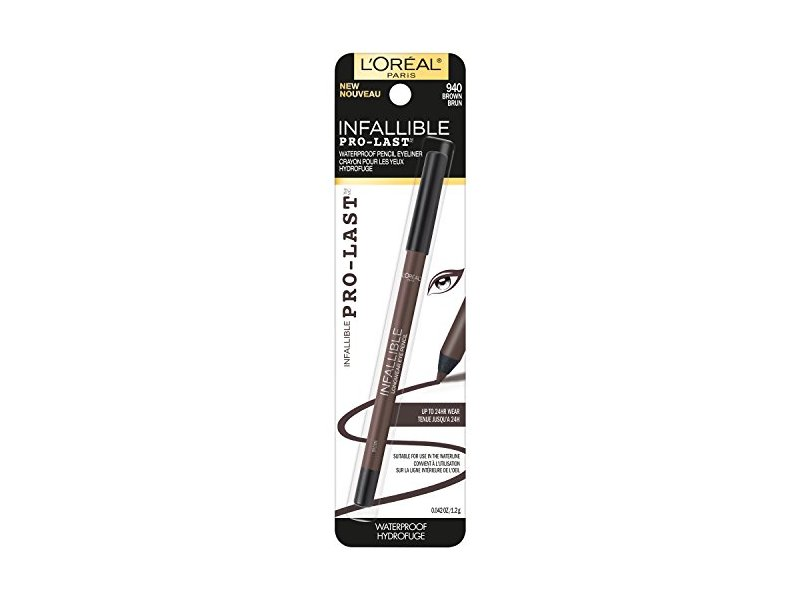 L'Oreal Paris Cosmetics Infallible Pro-Last Waterproof Pencil Eyeliner, Brown, 0.042 Ounce