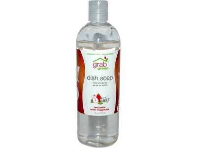 Grab Green Dish Soap, Red Pear with Magnolia, 16 oz
