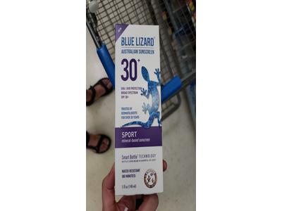 Blue Lizard Australian Sunscreen - Sport Sunscreen, SPF 30+ Broad Spectrum UVA/UVB Protection - 5 oz. Bottle - Image 3