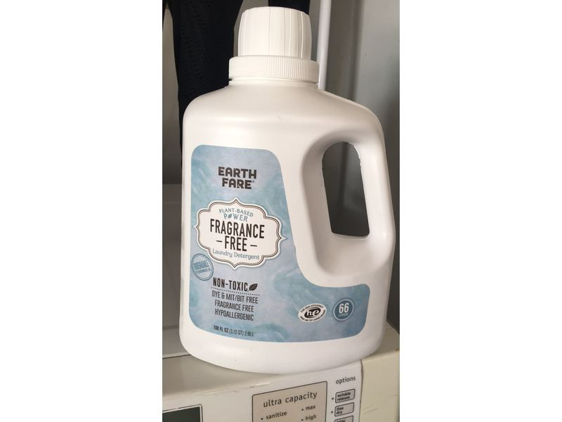 Earth Fare Plant-Based Power Laundry Detergent, 2.95 L