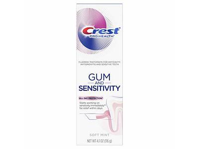 Crest Pro Health Gum And Sensitivity Toothpaste, Soft Mint, 4.1 oz / 116 g