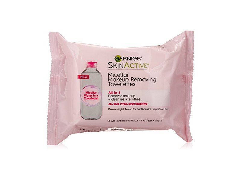 Garnier SkinActive Micellar Makeup Removing Towelettes All-in-1, 25 Count