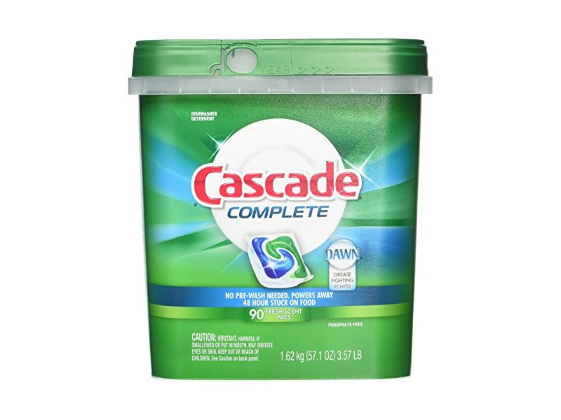 Cascade Complete Dishwasher Detergent, 90 Fresh Scent Action Pacs, 3.57 lb