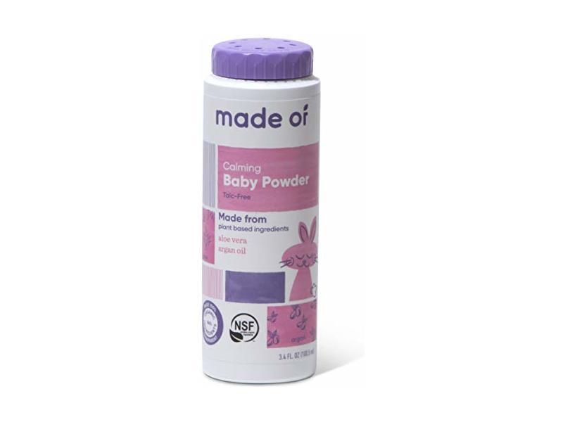 made of Organic Baby Powder, 3.4 oz
