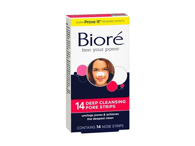 Biore Deep Cleansing Pore Strips Nose, 14 count