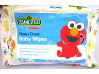 Hushables Sesame Street Free and Clear Baby Wipes, 64 ct - Image 2
