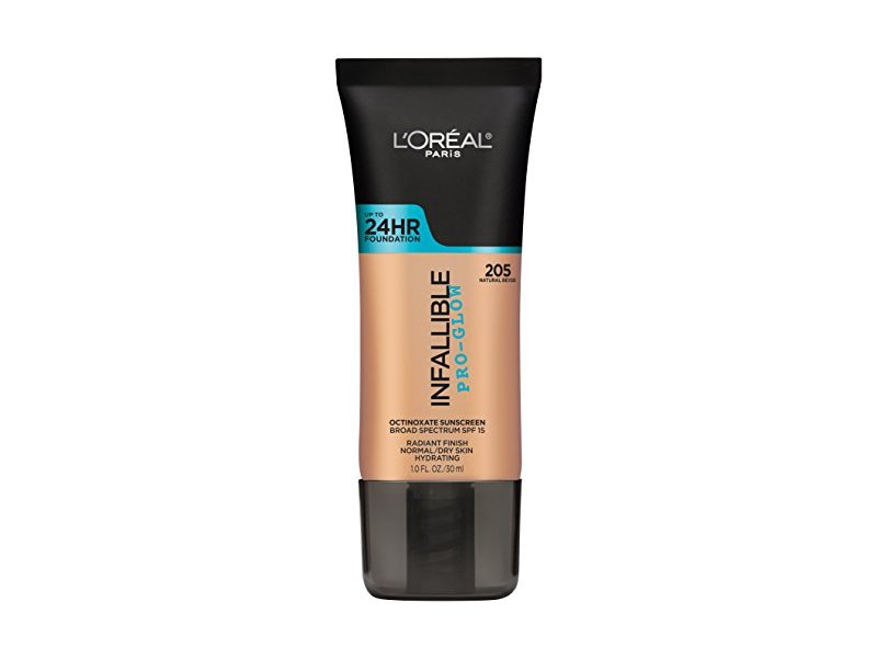 L'Oreal Paris Cosmetics Infallible Face Pro-Glow Foundation, Natural Beige, 1 Fluid Ounce