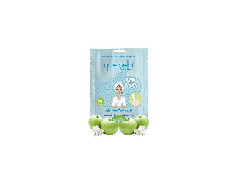 Que Bella Intensive Foot Mask Enriched With Apple & Shea Butter, 1 ct
