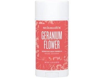 Schmidt's Deodorant Geranium Flower Sensitive Skin Deodorant Stick, 3.25 oz