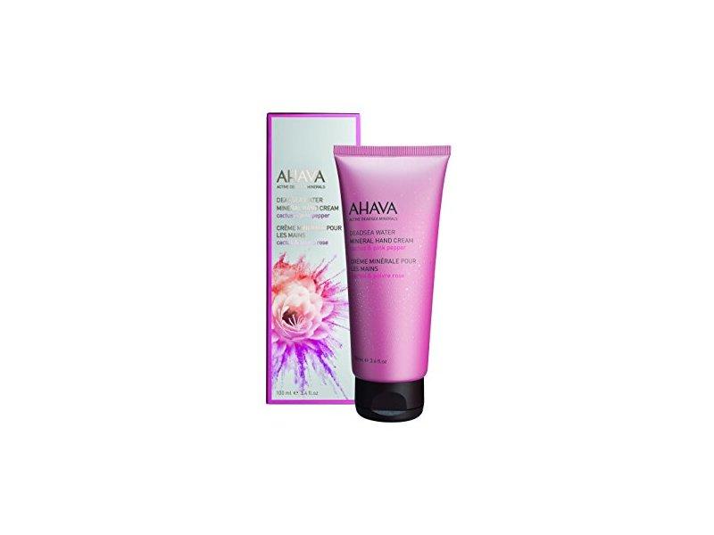 AHAVA Women's Mineral Hand Cream, Cactus/Pink Pepper, 3.4 fl. Oz.