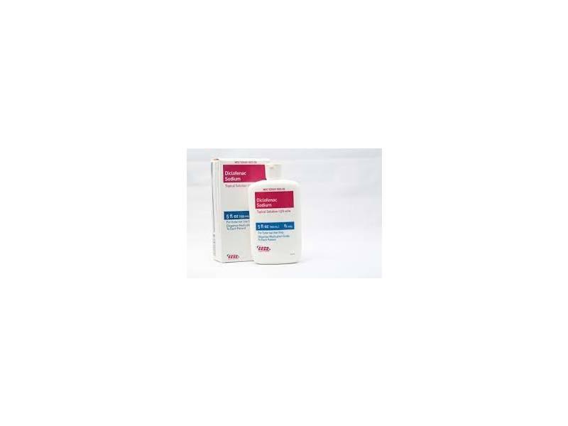 Diclofenac Sodium Topical Solution 1.5% (RX), 5 fl oz Teligent