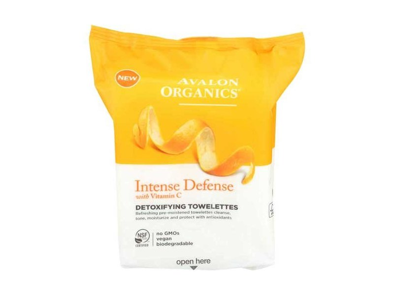 Avalon Organics Intense Defense Detoxifying Towelettes, 30 ct