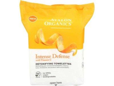 Avalon Organics Intense Defense Detoxifying Towelettes, 30 ct