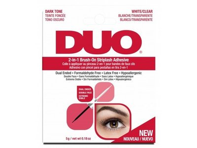 DUO Adhesives 2-in-1 Brush On Clear & Dark Adhesive, .18 oz