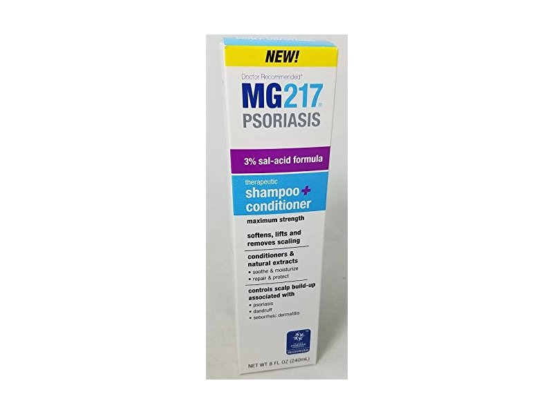MG217 Therapeutic Salicylic Acid Shampoo and Conditioner, 8 Oz (6 Pack)
