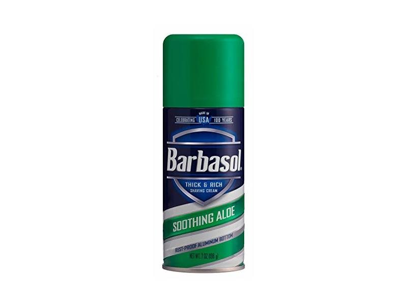 Barbasol Shave Cream 7 Ounce (Soothing Aloe, Pack of 2)