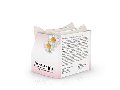 Aveeno Ultra-Calming Cleansing Oil-Free Makeup Removing Wipes for Sensitive Skin, 25 Count, Twin Pack - Image 7