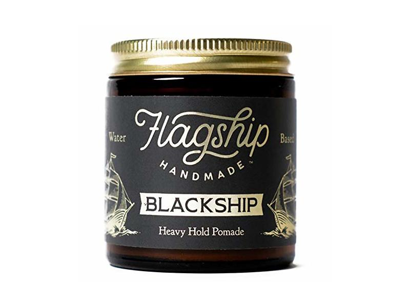 Flagship Pomade Co. Black Ship Heavy Water Based Vegan Pomade, 4oz