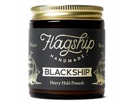 Flagship Pomade Co. Black Ship Heavy Water Based Vegan Pomade, 4oz - Image 2