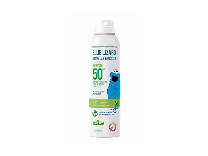 Blue Lizard Australian Sunscreen Spray, Kids, SPF50+, 5 fl oz