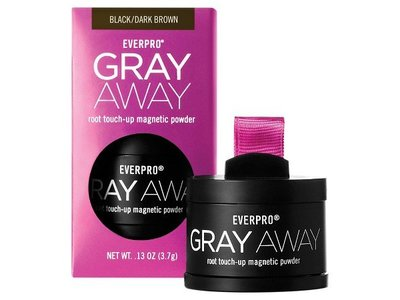 EverPro Gray Away Root Touch-UP Magnetic Powder, Black/ Dark Brown, 0.13 oz