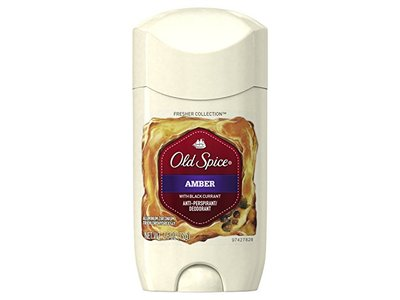 Old Spice Fresher Collection Invisible Solid Men's Antiperspirant and Deodorant, Amber, 2.6 Ounce