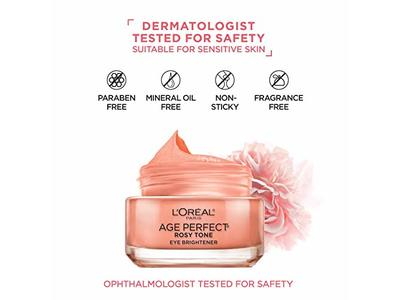 L'oreal Paris Skin Care Age Perfect Rosy Tone Eye Brightener Cream, 0.5 Ounce - Image 7