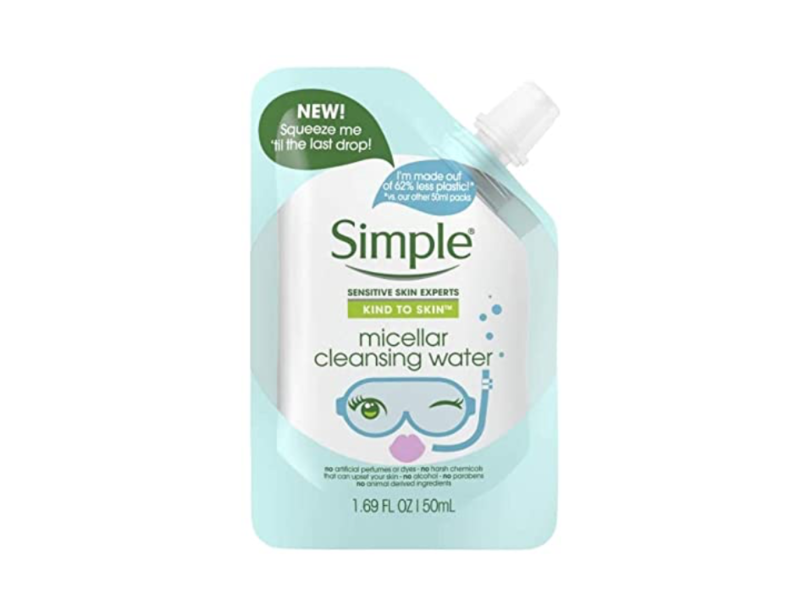 Simple Micellar Cleansing Water Pouch, 1.69 fl oz