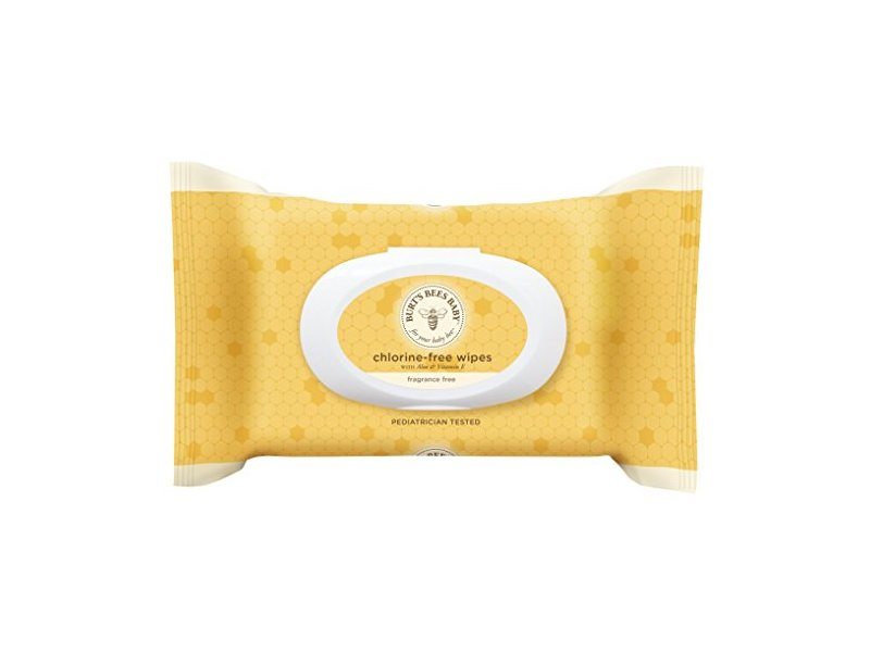 Burt's Bees Baby Chlorine-Free Wipes, 72 Count
