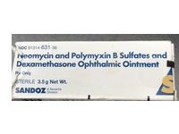 Neomycin And Polymyxin B Sulfates And Dexamethasone Ophthalmic Ointment (RX), 3.5 G, Sandoz - Image 2