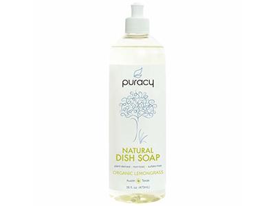 Puracy Natural Liquid Dish Soap, Organic Lemongrass, 16 fl oz