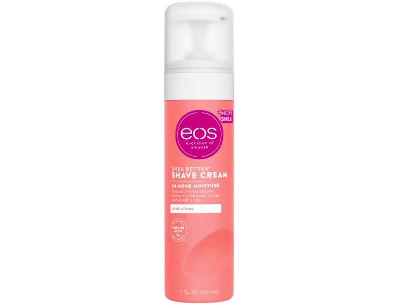 Eos Shea Butter Shave Cream, Pink Citrus, 7 fl oz