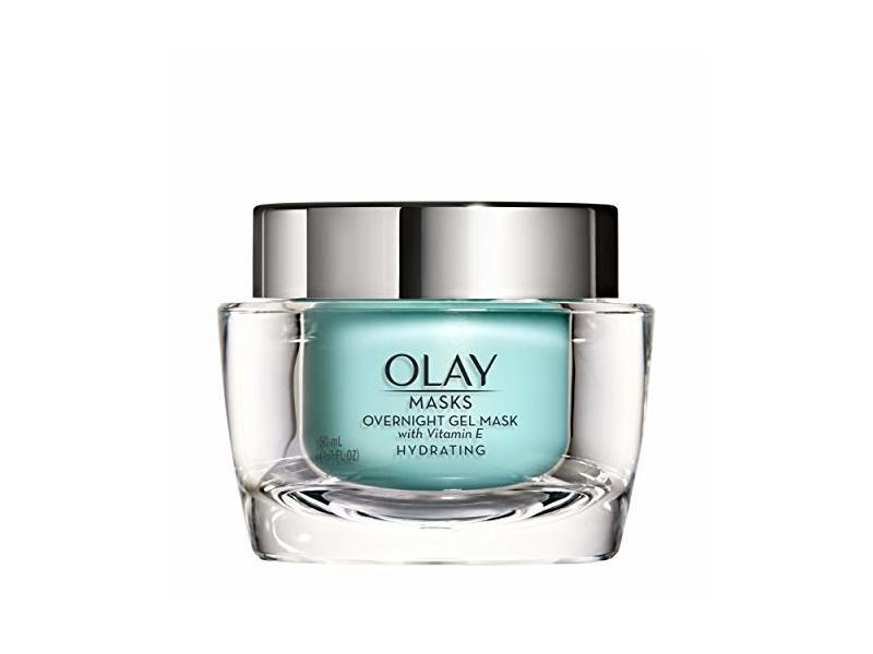 Olay Face Mask Gel Masks, Overnight Facial Moisturizer with Vitamin E for Hydrating Skin, 1.7 Fl Ounce
