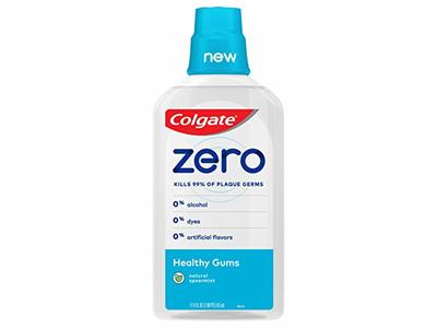 Colgate Zero Mouthwash Healthy Gums, Natural Spearmint, 17.4 fl oz