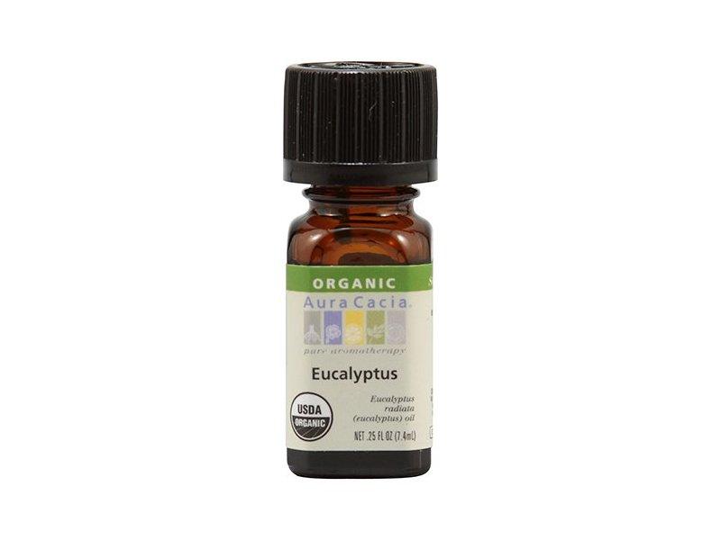 Aura Cacia Organic Eucalyptus Essential Oil, 0.25 Ounce
