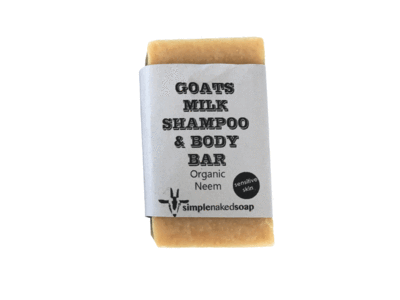SimpleNaked Soap Goat's Milk Shampoo & Body Bar, Organic Zeem