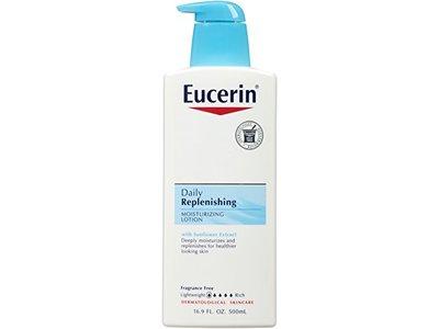 Eucerin Daily Replenishing Moisturizing Lotion, 16.9 Ounce (Pack of 3)