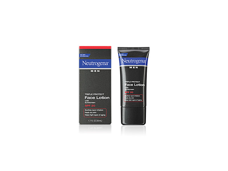 Neutrogena Men Triple Protect Face Lotion With Sunscreen SPF 20, Johnson & Johnson