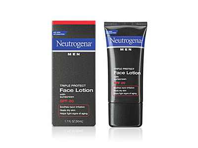 Neutrogena Men Triple Protect Face Lotion With Sunscreen SPF 20, Johnson & Johnson - Image 1