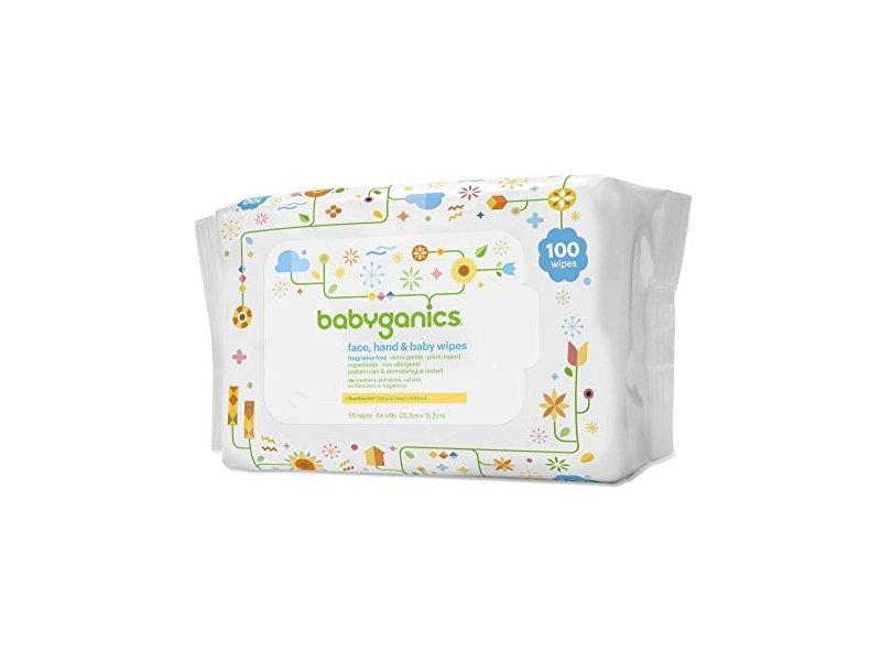 Babyganics Face, Hand & Baby Wipes, Fragrance Free