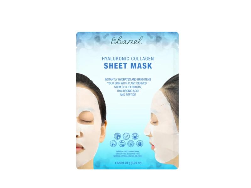 Ebanel Skincare Hyaluronic Collagen Sheet Mask, 20 g (0.70 oz)