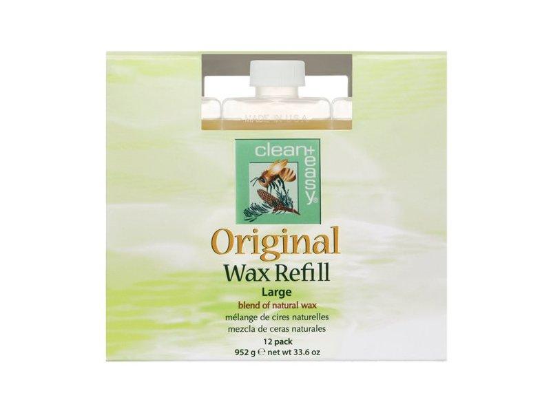 Clean + Easy Original Wax Refills, 2.8 oz - Pack of 12