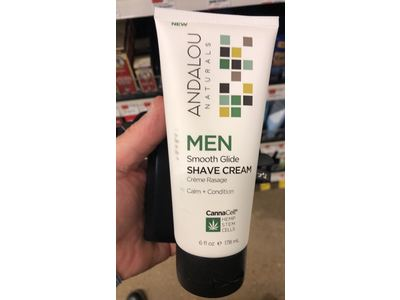 Andalou Naturals Men Smooth Glide Shave Cream with CannaCell, 6 Ounce - Image 3