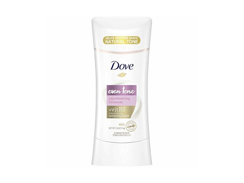Dove Even Tone Antiperspirant, Rejuvenating Blossom, 2.6 oz